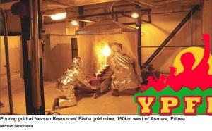 Pouring Gold Nevsun Eritrea