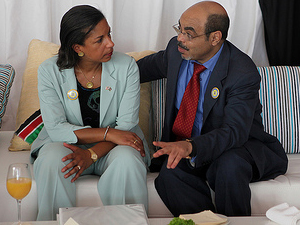 Ambassador Susan Rice with Meles Zenawi