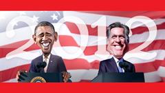 Obama vs Romney 2012 Caricature