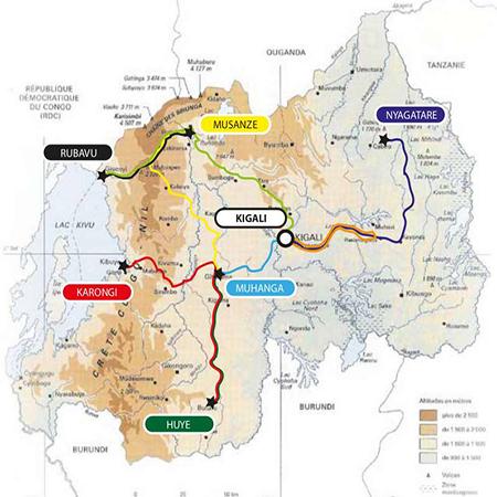 Tour of Rwanda 2012 Map