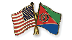 USA-Eritrea Flag Pins