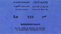 Eritrean Referendum Yes Vote