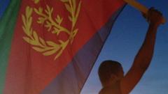 Eritrean Holding Flag