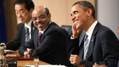 Barack Obama and Prime Minister Meles Zenawi