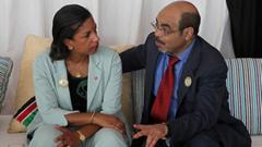 US Ambassador Susan Rice with Meles Zenawi