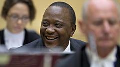 Kenyan President Uhuru Kenyatta, Laughing