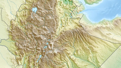 Map of Ethiopia Terrain