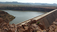 Dam in Eritrea, Africa. Made by Eritrean companies employing Eritreans.