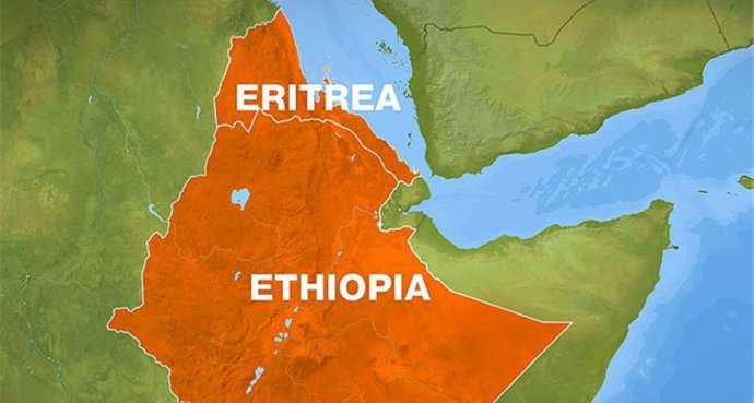 East Africa - Eritrea Ethiopia Map