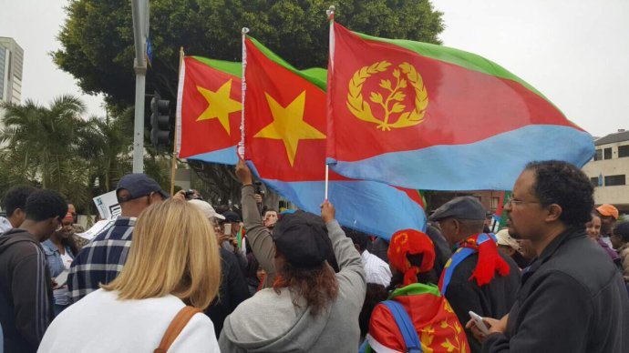 Eritrean flags