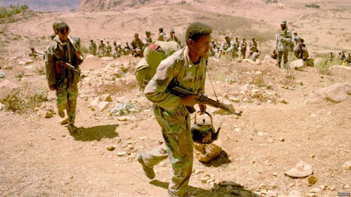 Eritrean Soldiers at Eritrean-Ethiopian Border - 2001