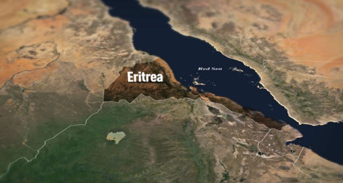 Satellite view of Eritrea