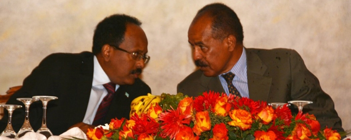 President Mohamed Abdullahi Mohamed and President Isaias